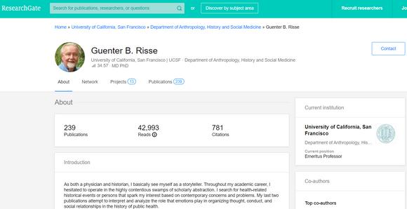 ResearchGate как да търсим учен в сайта